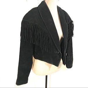 Vintage fringe suede jacket